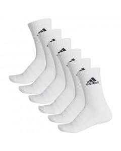 Adidas Cushioned Crew 6x nogavice bele