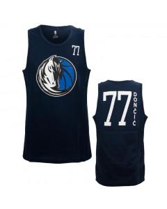 Luka Dončić 77 Dallas Mavericks All Net Basic Tank Top T-Shirt