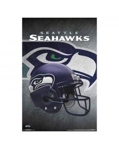 Seattle Seahawks Team Helmet poster
