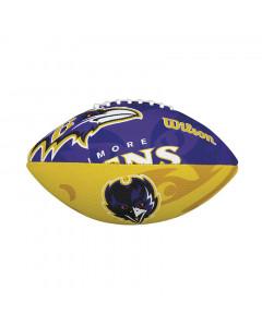 Baltimore Ravens Wilson Team Logo Junior lopta za američki nogomet