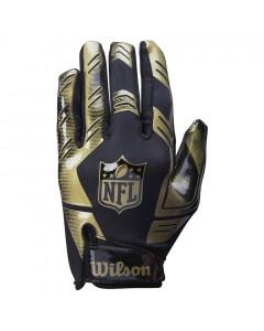 Wilson AD Strech Fit American Football Handschuh Gold