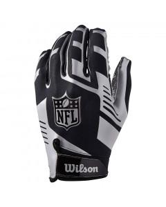 Wilson AD Strech Fit American Football Handschuh Silver