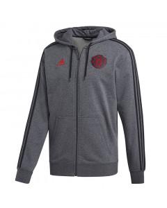Manchester United Adidas 3S zip majica sa kapuljačom