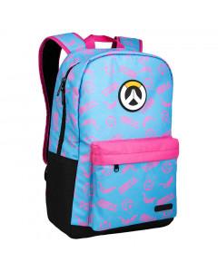 Overwatch Jinx Hero Splash Blue/Pink Rucksack