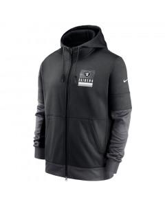 Las Vegas Raiders Nike Lockup Therma Full Zip Kapuzenjacke