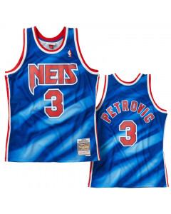 Dražen Petrović 3 New Jersey Nets 1990-91 Mitchell & Ness Swingman dres
