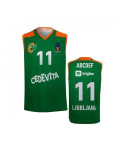 KK Cedevita Olimpija replika otroški dres zelen 20/21 (poljubni tisk)