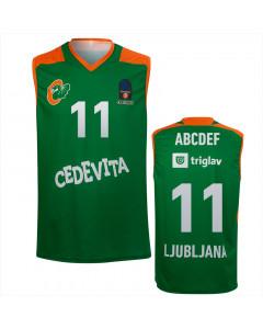 KK Cedevita Olimpija replika dres zelen 20/21 (poljubni tisk)