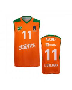 KK Cedevita Olimpija replika otroški dres oranžen 20/21 (poljubni tisk)