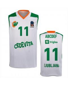 KK Cedevita Olimpija replika dres bel 20/21 (poljubni tisk)