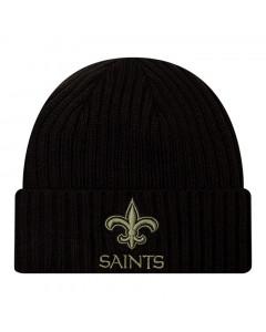 New Orleans Saints New Era NFL 2020 Official Salute to Service Black Wintermütze