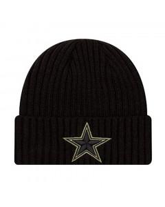 Dallas Cowboys New Era NFL 2020 Official Salute to Service Black zimska kapa