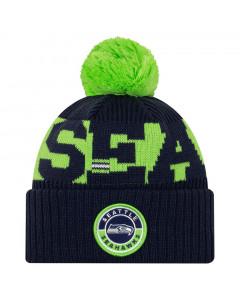 Seattle Seahawks New Era NFL 2020 Official Sideline Cold Weather Sport Knit zimska kapa