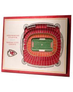 Kansas City Chiefs 3D Stadium View slika