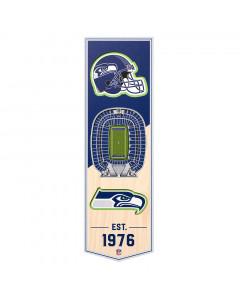Seattle Seahawks 3D Stadium Banner