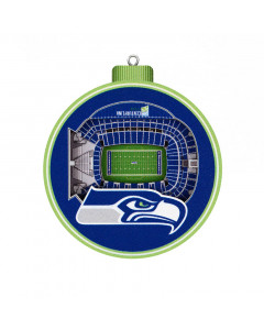 Seattle Seahawks 3D Stadium View Ornament