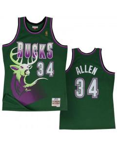 Ray Allen 34 Milwaukee Bucks 1996-97 Mitchell & Ness Swingman Trikot