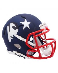 New England Patriots Riddell AMP Speed Mini čelada