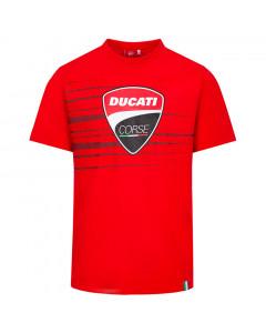 Ducati Corse Logo and Stripes T-Shirt