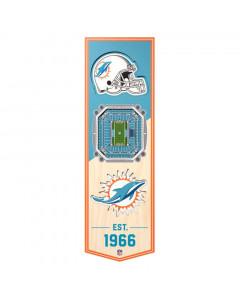 Miami Dolphins 3D Stadium Banner slika