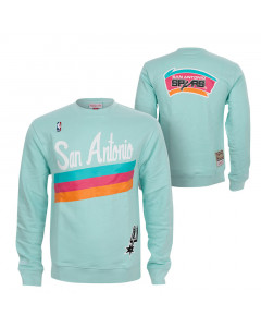 San Antonio Spurs Mitchell & Ness Warm Up Pastel Crew pulover