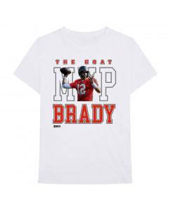 Tom Brady 12 MVP White T-Shirt