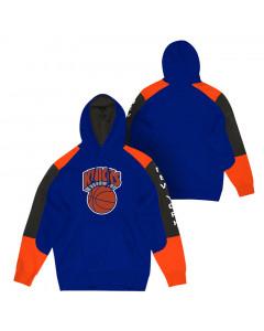 New York Knicks Mitchell & Ness Fusion pulover sa kapuljačom