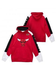 Chicago Bulls Mitchell & Ness Fusion pulover sa kapuljačom
