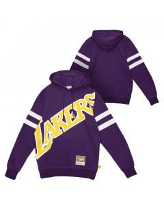 Los Angeles Lakers Mitchell & Ness Big Face 2.0 Substantial pulover sa kapuljačom
