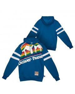 Denver Nuggets Mitchell & Ness Big Face 2.0 Substantial pulover sa kapuljačom
