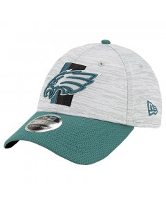 Philadelphia Eagles New Era 9FORTY Official NFL Training Digi-Tech Heather Stretch Snap kapa