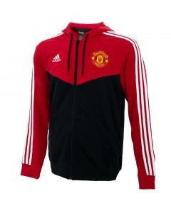 Manchester United Adidas 3S Full-Zip majica sa kapuljačom