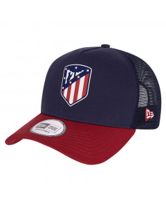 Atletico de Madrid New Era   A-Frame Trucker Rubber Logo kapa
