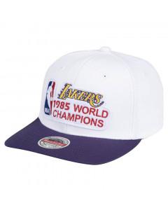 Los Angeles Lakers Mitchell & Ness HWC 85 World Champions Stretch kapa