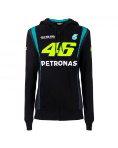 Valentino Rossi VR46 Petronas SRT Yamaha ženska zip majica sa kapuljačom