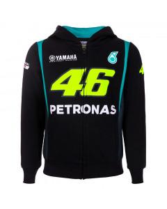 Valentino Rossi VR46 Petronas SRT Yamaha dječja zip majica sa kapuljačom