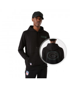 Green Bay Packers New Era Outline Logo Graphite pulover s kapuco