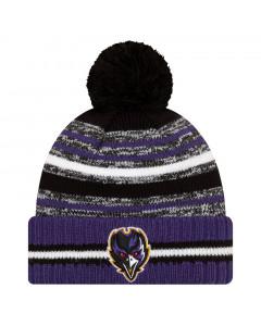 Baltimore Ravens New Era NFL 2021 On-Field Sideline Sport Wintermütze