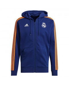 Real Madrid Adidas 3S zip majica sa kapuljačom