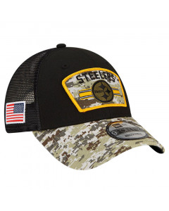 Pittsburgh Steelers New Era 9FORTY Trucker 2021 Salute to Service kapa