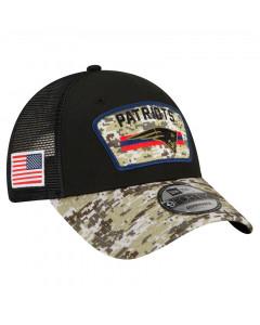 New England Patriots New Era 9FORTY Trucker 2021 Salute to Service kapa