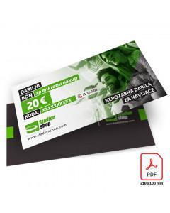 STADIONSHOP darilni bon 20 eur