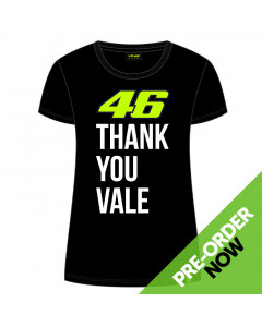Valentino Rossi VR46 Thank You Vale Womens T-Shirt
