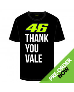 Valentino Rossi VR46 Thank You Vale T-Shirt