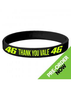 Valentino Rossi VR46 Thank You Vale Black Silikon Armband