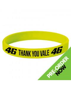 Valentino Rossi VR46 Thank You Vale Yellow Silikon Armband
