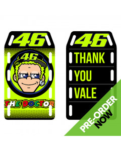 Valentino Rossi VR46 Thank You Vale Stickers Set Aufkleber