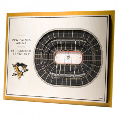 Pittsburg Penguins 3D Stadium View slika