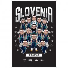 Slovenija KZS Tokyo poster