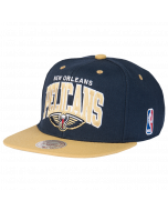 New Orleans Pelicans Mitchell & Ness 2 Tone Team Arch kapa